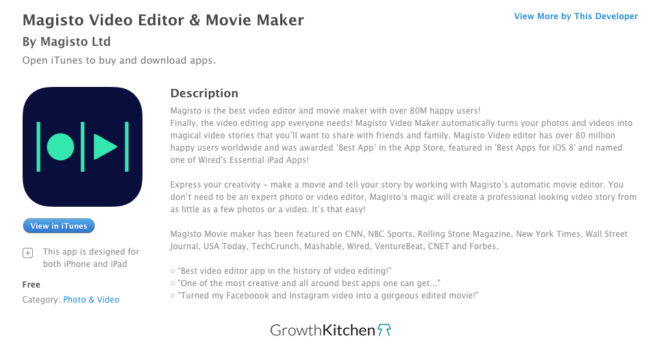 Magisto App Description